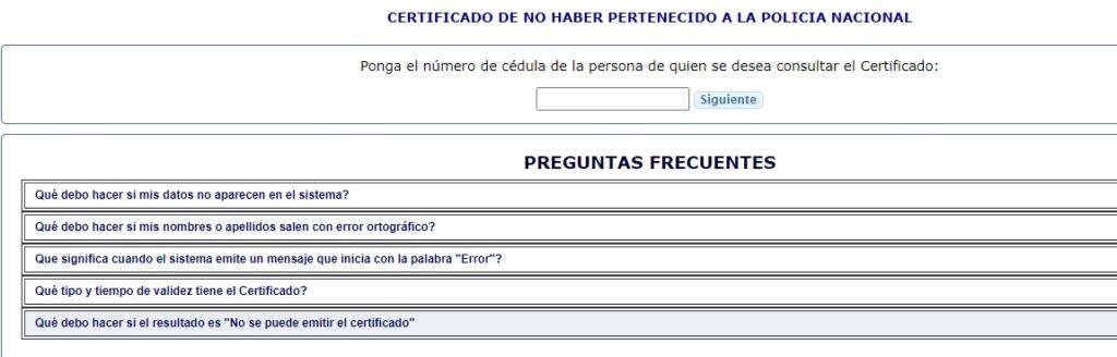 certificado de no pertenecer