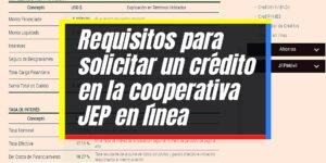 Cómo solicitar un crédito en línea de la cooperativa JEP