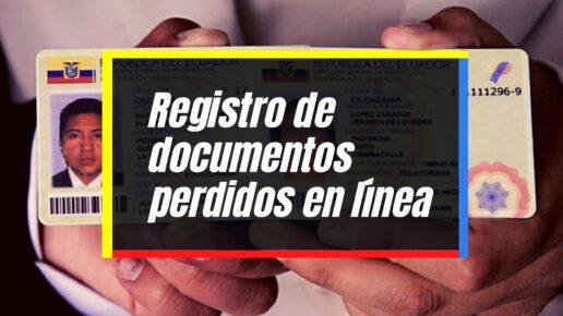 Cómo denunciar la perdida de documentos en línea