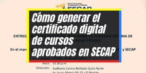 SECAP: Inscripción electrónica y listado de cursos