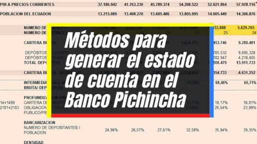 Consultar estado de cuenta en el Banco Pichincha
