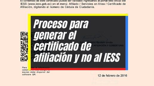 Cómo generar el certificado de afiliación y no afiliación al IESS