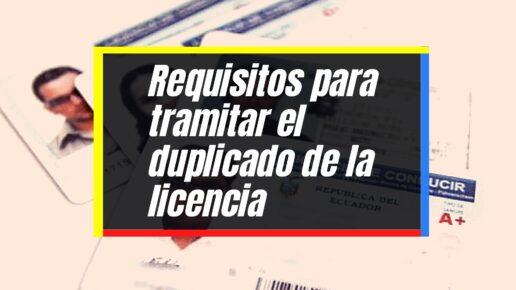 Cómo obtener el duplicado de la licencia de conducción