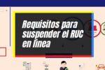 Cómo suspender el RUC en línea