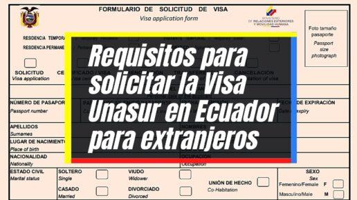 Pasos para tramitar la Visa Unasur en Ecuador