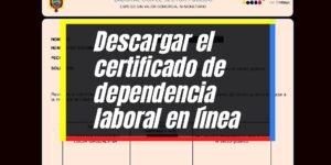 Emitir el certificado de dependencia laboral para el sector público