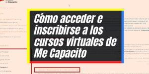Me capacito: Inscripción, acceso y certificado en línea