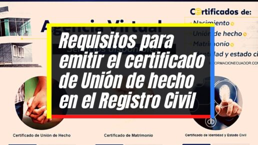 Proceso para emitir el certificado de unión de hecho