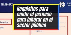Autorización para laborar en el sector público como extranjero
