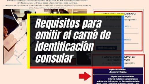 Emisión del carné de identificación consular