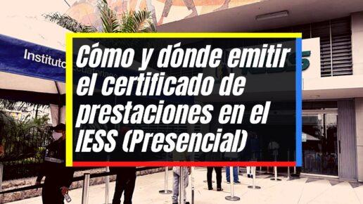 Emitir el certificado de prestaciones IESS para otros paises