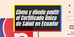 Cómo solicitar el Certificado Único de Salud en Ecuador