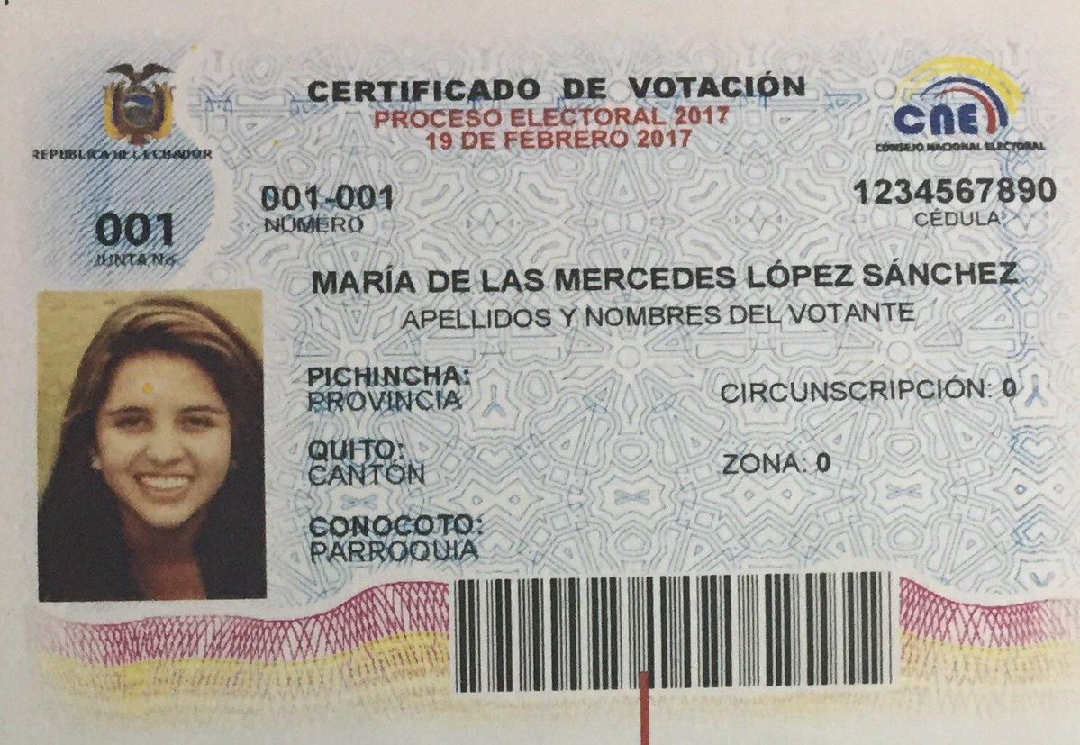 certificado de votación