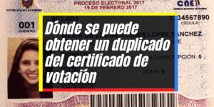 Requisitos para emitir el duplicado del certificado de votación