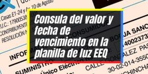 Consulta virtual de la planilla de luz EEQ en Quito