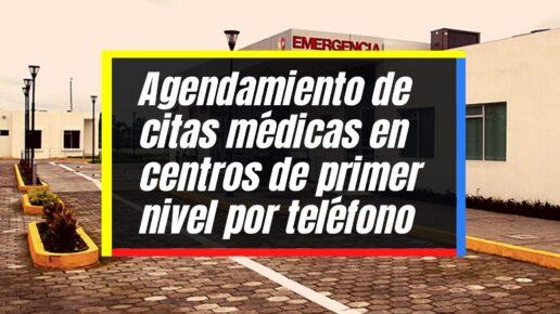 Solicitud de citas médicas en establecimientos de primer nivel