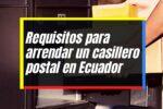 Solicitud para alquilar un apartado postal personal en Ecuador