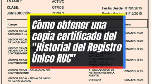 """Pasos para emitir el certificado """"Historial del RUC"""" en línea"""
