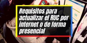 Actualización del RUC por internet para personas jurídicas